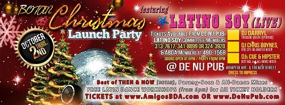 "BUY TICKETS - ""Christmas Launch Party"" (LIVE) - Thursday 2nd October @De Nu Pub, Woodbrook - don't miss this beat . . . !"